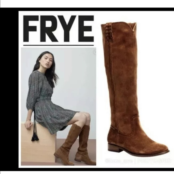 Suede Knee Length Pull On Boots